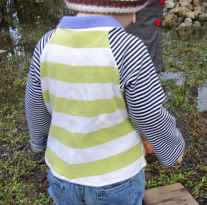 Toddler t-shirt from onsie free sewing tutorial