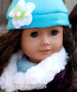 American girl 18 inch doll fleece hat and mittens free sewing pattern