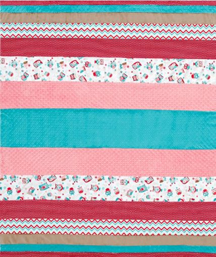 Striped throw quilt free pattern