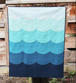 Wave pattern baby boy quilt free pattern