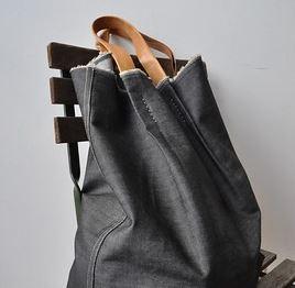 Large denim tote bag sewing pattern