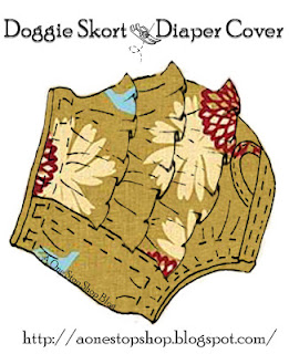 Dog diaper cover with skirt sewing pattern