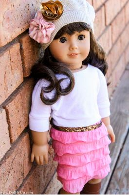 American girl 18 inch doll dress with ruffle skirt free sewing pattern