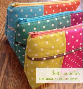 Zipper bags using fat quarters free sewing pattern