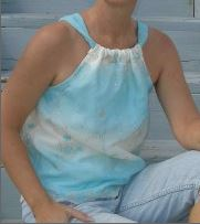 Womens sleevelss casual top with straps sewing pattern