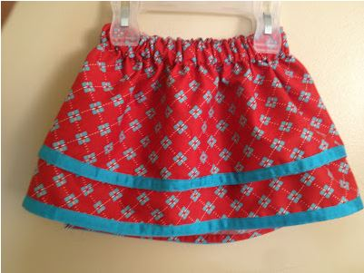Double layer toddler skirt free sewing pattern