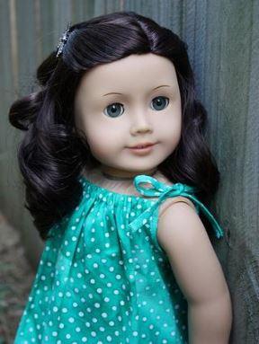 American girl 18 inch doll drawstring dress free sewing pattern