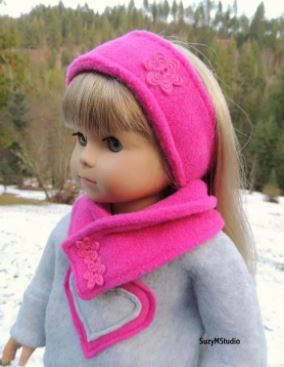 American girl 18 inch doll ear and neck warmers