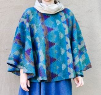 Easy short round poncho free sewing pattern