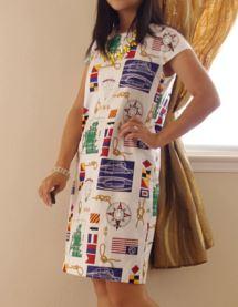 Womens easy short sleeve shift dress free sewing pattern
