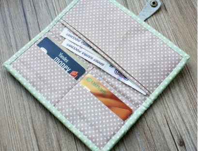 Easy fabric wallet free sewing pattern
