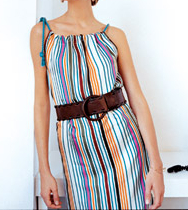 Sleeveless womens summer dress with straps sewing pattern