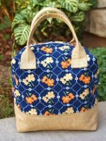 Fabric travel case with handle free sewing pattern