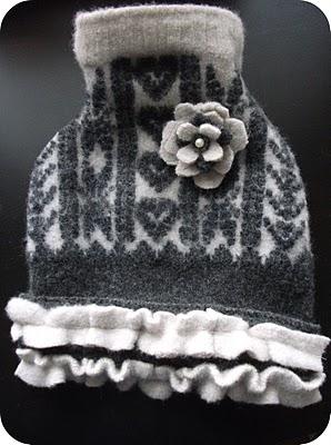 Dog wool sweater dress sewing pattern