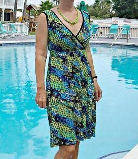 Womens sleeveless wrap front dress sewing pattern
