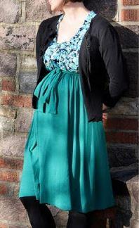 Womens empire waist maternity dress sewing pattern
