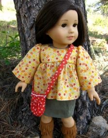 American girl 18 inch doll top with empire waist free sewing pattern