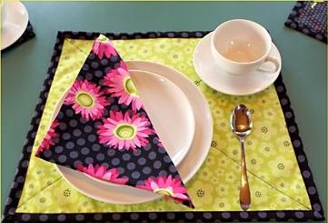 Reversible placemat free sewing pattern