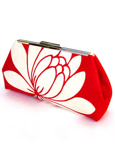 Clutch purse with metal frame closure free sewing pattern