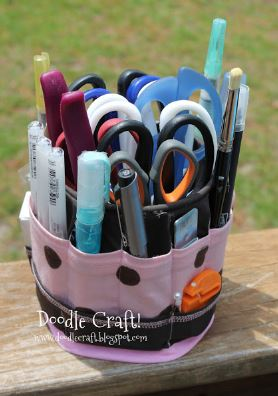 Fabric storage bucket with dividers free sewing pattern