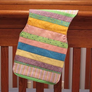 Easy striped patchwork burp cloth sewing pattern