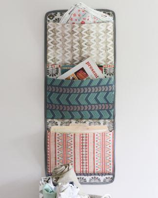 Fabric wall organizer free sewing pattern