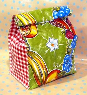 Foldover lunch bag tote sewing pattern