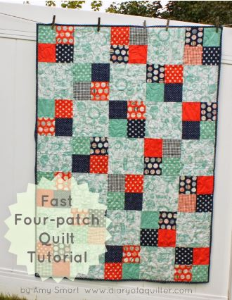 Quick four patch charm pack quilt free pattern