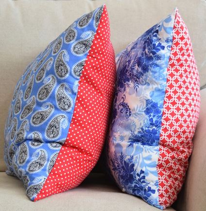 Throw pillows from fat quarters free sewing pattern