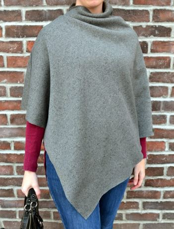 Simple easy poncho free sewing pattern