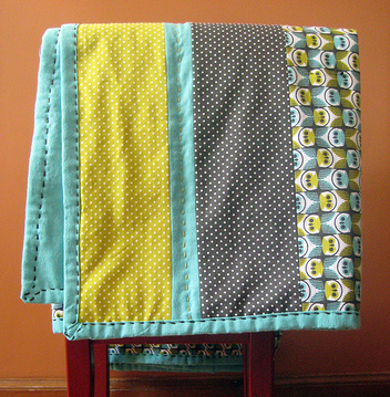 Baby quilt from flannel free pattern