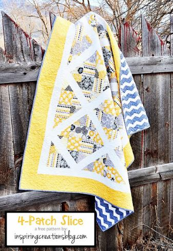 Four patch quilt from charm packs free pattern
