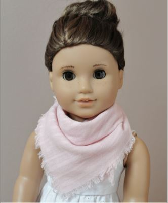 American girl 18 inch doll fringed scarf free sewing pattern