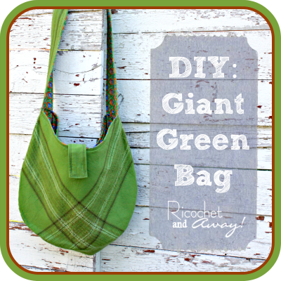 Large easy hobo bag with flap closure free sewing pattern