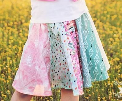 Circle skirt from fat quarters free sewing pattern