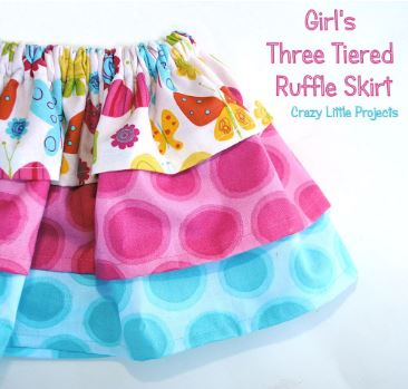 Ruffled tiered baby skirt free sewing pattern