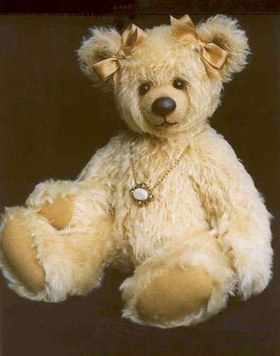 Gold jointed teddy bear free sewing pattern