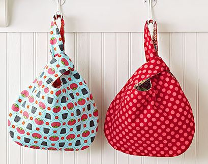 Small fabric hobo bags free sewing pattern