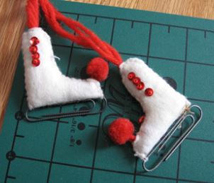 Fabric figure skate ornament free sewing pattern