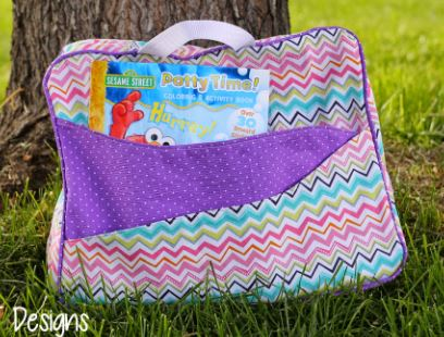 Child's fabric weekend suitcase free sewing pattern