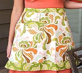 Retro hostess half apron free sewing pattern