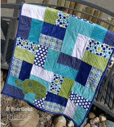 Easy quilt with rectangles free pattern