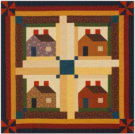 Log cabin quilt free pattern