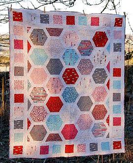 Free hexagon quilt pattern