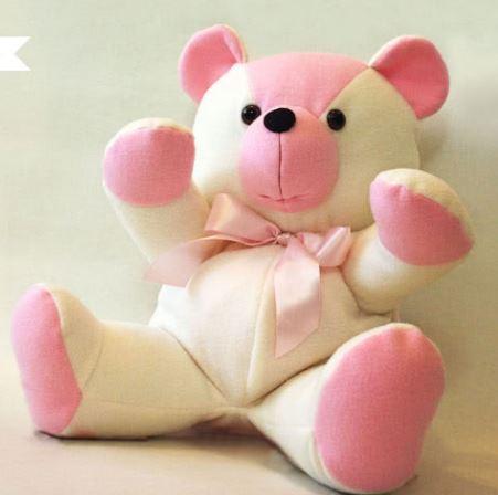 Fabric teddy bear free sewing pattern