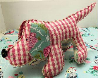 Hound dog stuffed animal vintage design free sewing pattern
