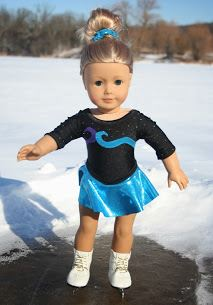 American girl 18 inch doll ice skating dress free sewing pattern
