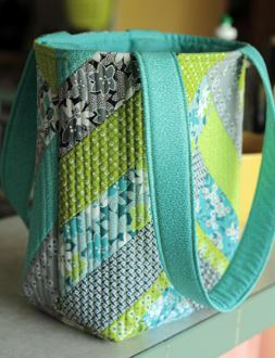 Flat bottom quilted tote bag free pattern