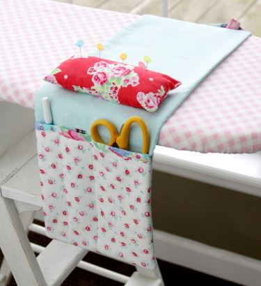 Ironing board cover caddy with pockets free sewing pattern