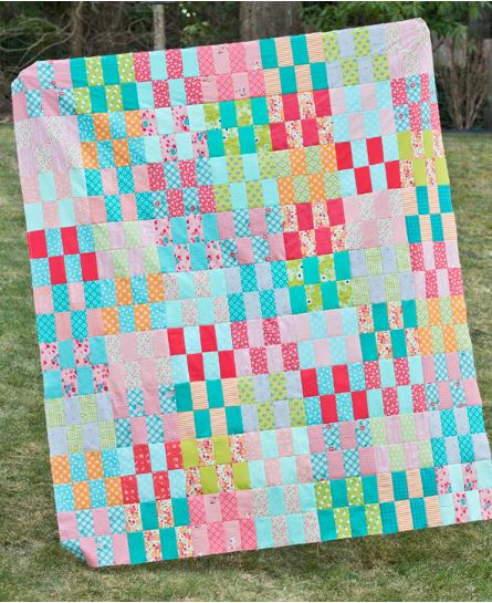 Scrap quilt from jelly roll strips free pattern